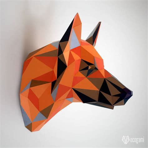 relax wall german shepherd papercraft diy faux by ecogami on zibbet