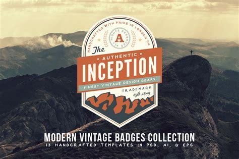 modern vintage badges collection logo templates