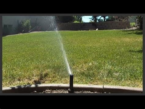 turn   lawn sprinkler system youtube