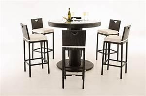 Bartisch Set Günstig : clp polyrattan gartenbar set mari xl bartisch mit eingelassenem edelstahl k bel 6 x barhocker ~ Markanthonyermac.com Haus und Dekorationen