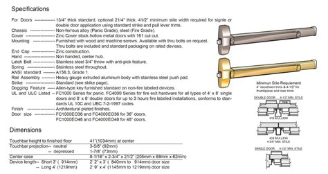 Luter Fc1000 Rim Type Exit Device