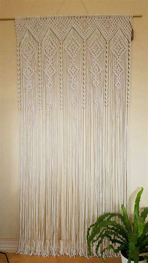Best 25  Macrame curtain ideas on Pinterest   Hanging door