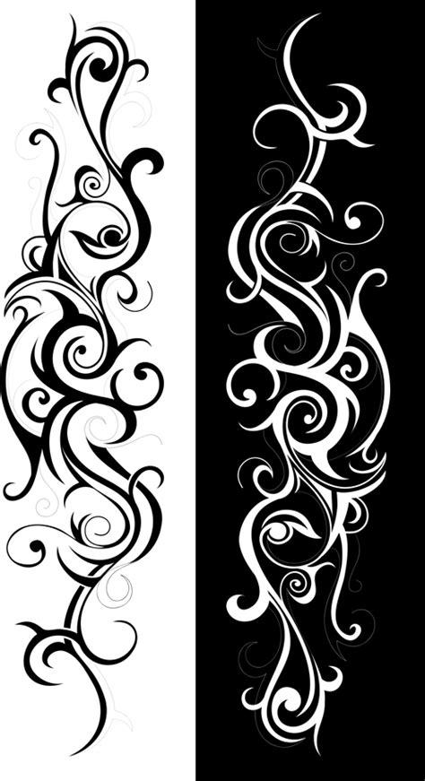 Swirls decor design vector set 03 free download
