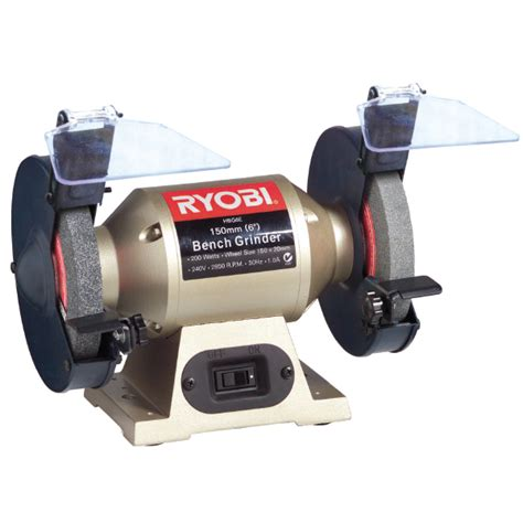 ryobi 6 inch bench grinder ryobi bench grinder 200w 150mm hbg6e brights