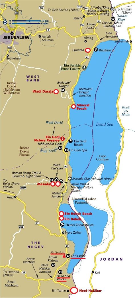 map  dead sea sodom day  tourists  israel