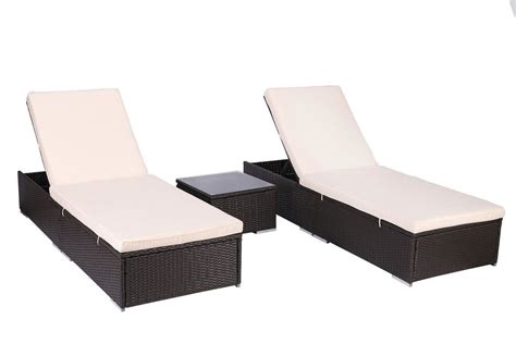 affordable variety outdoor chaise lounge chair patio furniture set wicker rattan brown 3