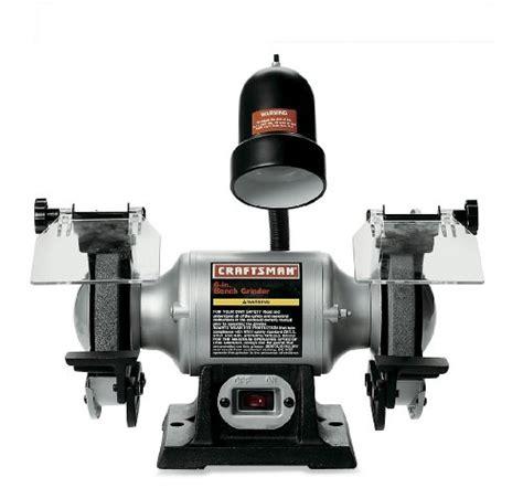 bench grinder reviews craftsman 9 21124 1 6 horsepower 6 inch bench grinder with