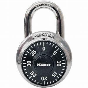 Master Lock Preset 3-Digit Dial Combination Padlock