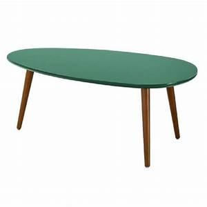 Table Basse Bois Foncé : stone01 table basse scandinave laqu e vert for t semi mat pieds en bois h tre marron fonc l ~ Teatrodelosmanantiales.com Idées de Décoration