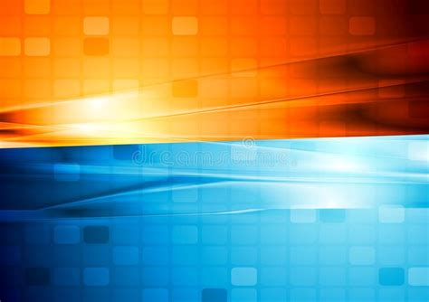 blue  orange abstract tech design stock vector