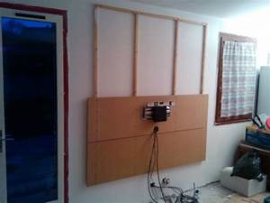 Fixer Une Télé Au Mur : fixer un meuble suspendu ~ Premium-room.com Idées de Décoration