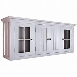 meuble haut savannah pin massif gris l 157 x achat With elements haut de cuisine