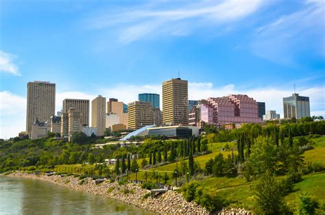 City Of Edmonton In Summer Editorial Photography. Image Of