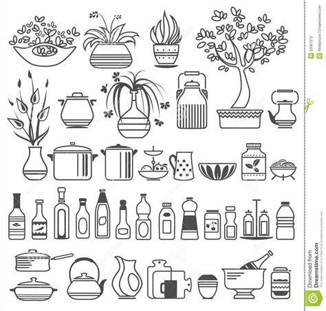 illustration cuisine kitchen tools and utensils vector illustration stock photo image of sauce teapot 32087370