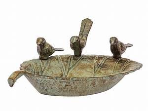 Abreuvoir A Oiseaux Pour Jardin : abreuvoir bain pour oiseaux pour jardin style antique campagne fer ebay ~ Melissatoandfro.com Idées de Décoration