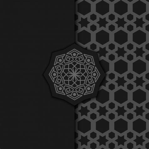 luxury ornamental mandala design background  dark color abstract arabic background png