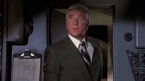 leslie nielsen doctor airplane movie gifs find share on giphy