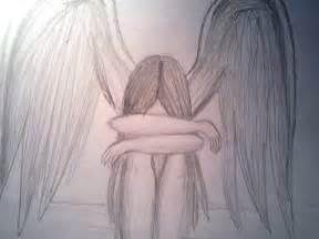Sad Angel Drawings Easy