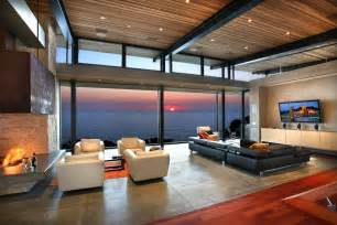view interior of homes living rooms with great views