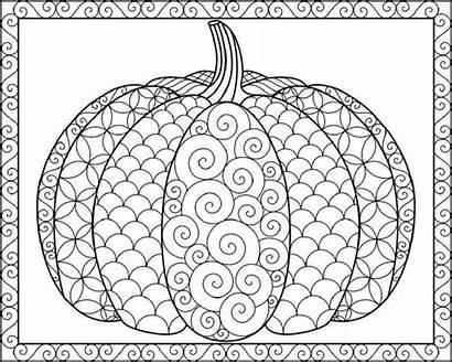 Coloring Fancy Pumpkins Mandala Halloween Bezoeken