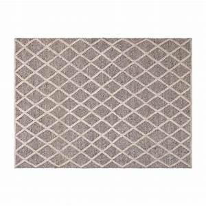 lucie tapis tisse main 170x240cm gris habitat With tapis tissé gris