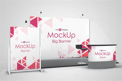 exhibition stand mockup  psd