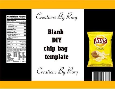 diy chip bag template templates printable  label