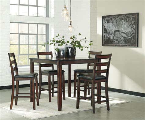 5 dining room sets coviar brown 5 counter height dining room set d385