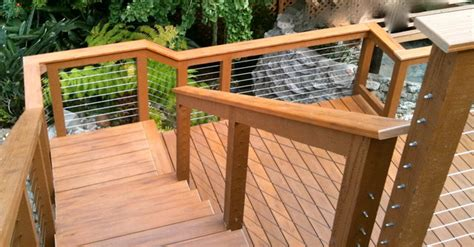 Wood Porch Railing Systems by Wood Framed Cable Railing Systems Modern Deck San