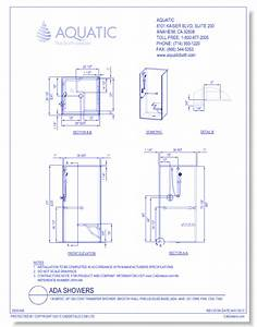 Aquatic showers cad drawings caddetailscom for Autocad ada bathroom blocks