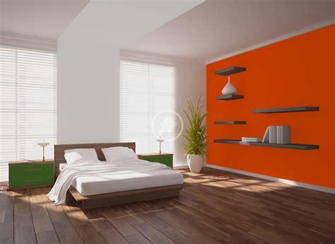 deco chambre orange peinture orange murale décohom