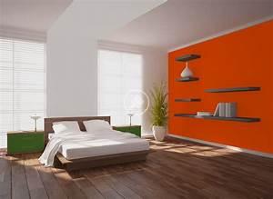 Peinture Orange Murale Dcohom