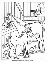 Coloring Horse Barn Colt Younger Artists Chinese Yahoo sketch template