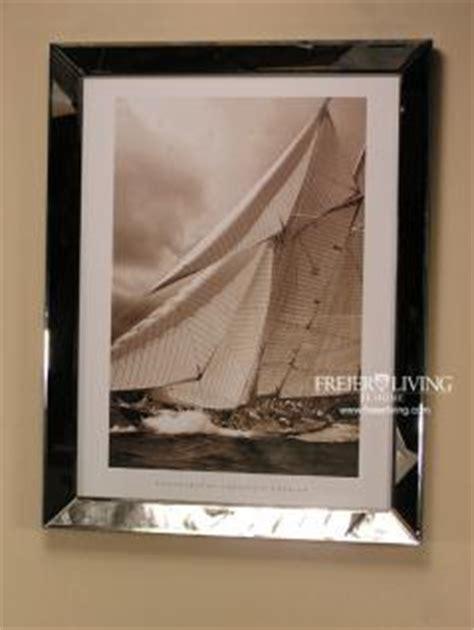 bilderrahmen mit spiegelrahmen maritimer kunstdruck spiegel bilderrahmen mit segelschiff kaufen bei helga freier