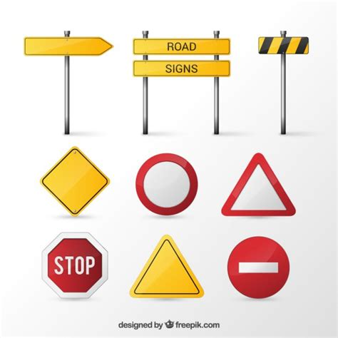 The road less traveled font pack. Road signs   Free Vector