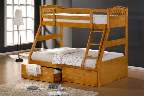 ashley maple duo double single bunk beds  drawers