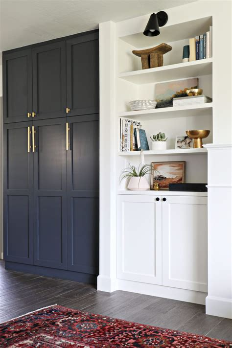 Black Kitchen Pantry by Smooth Ikea Pax Hacks That Look Seamless Built In