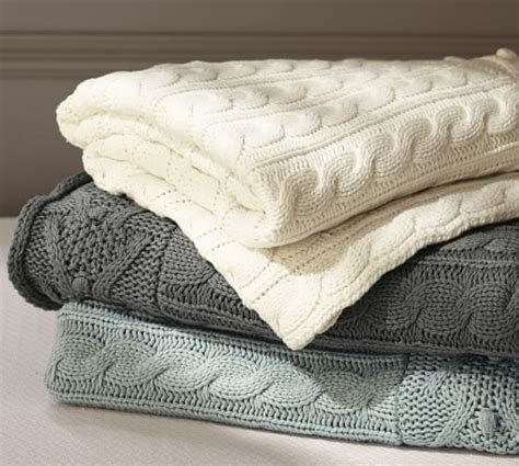 Loomed Rugs by Cable Knit Throw Pottery Barn
