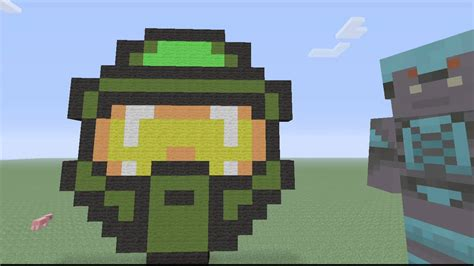 Pixel Art Master Chief Helmet Youtube
