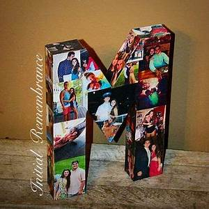 photo letter collage girlfriend gift from With letter shaped picture frames