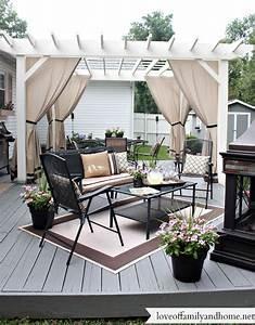blanc et gris jardin pinterest gris exterieur et With good decoration exterieur de jardin 12 decoration rideaux romantique