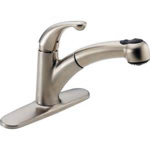 kitchen faucet spray delta palo stainless steel finish 1 handle pull out spray kitchen faucet 450417 ebay