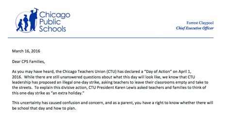 read letter from cps to parents chicago tribune