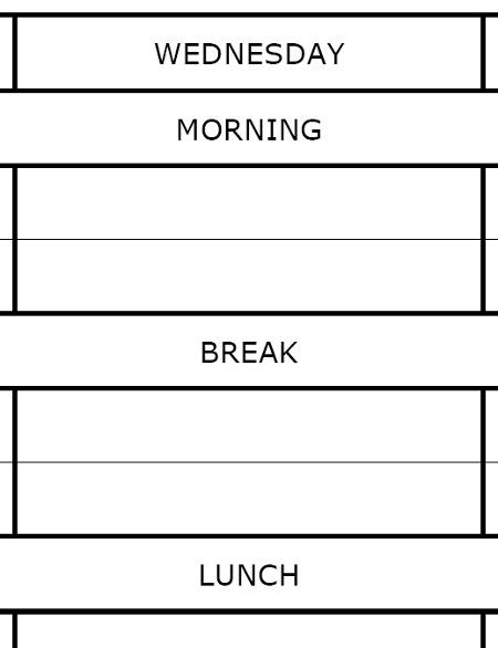 Blank Revision Timetable Template by Free Worksheets 187 Printable Timetable Free Math