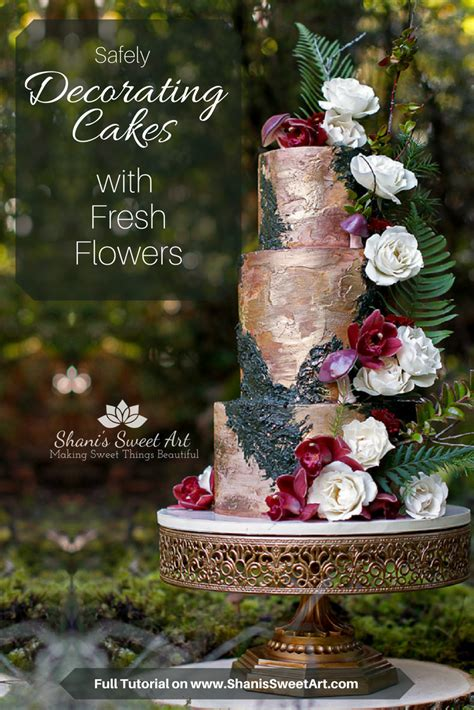 Cake Decorating With Real Flowers - safely decorating cakes with fresh flowers shani s sweet