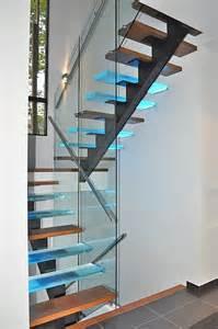 Escalier Verre by Vert 233 Bral Verre Escaliers Battig Design
