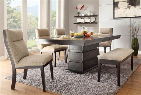 grey and black rug modern and cool small dining room ideas for home