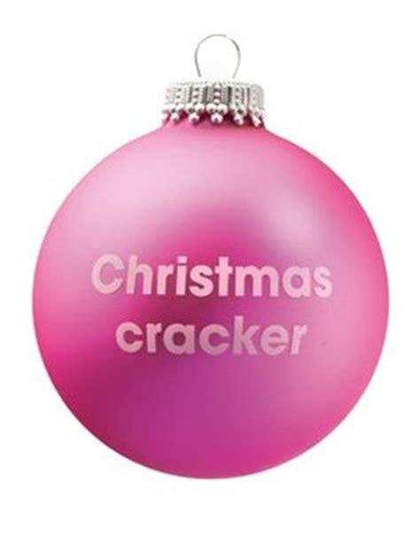 pink christmas crackers cracker pink santa balls bauble buy at grindstore