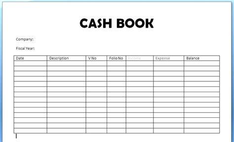 cashbook page template cashbook template worldbestcat info