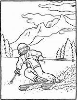 Ski Montagne Coloriage Bergen Coloring Skiing Tekening Dessin Kleurplaat Skifahren Mountains Colouring Kiddicoloriage Ausmalbilder Colorier Faire Kiddicolour Kiddimalseite Den Hiver sketch template